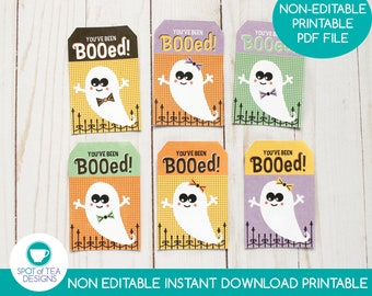 You've Been Booed Halloween Tags   Halloween Printable   Halloween Tags   Candy Gram Tags   INSTANT DOWNLOAD