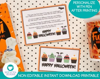 Halloween Baking Gift Tag   Halloween Printable   Baking printable   Halloween Cupcakes   You've Been Booed   INSTANT DOWNLOAD