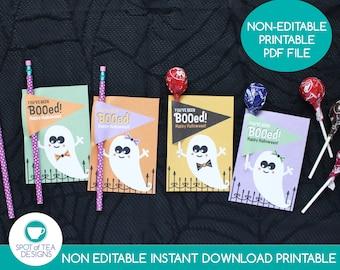 You've Been Booed Halloween Lollipop Holders   Halloween Printable   Halloween Pencil Holders   Candy Gram Tags   INSTANT DOWNLOAD