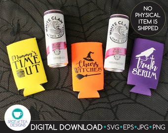 Halloween Drinking SVG cut file   Cheers Witches   Truth Serum   Mummy's Time Out   svg   eps   DIGITAL DOWNLOAD