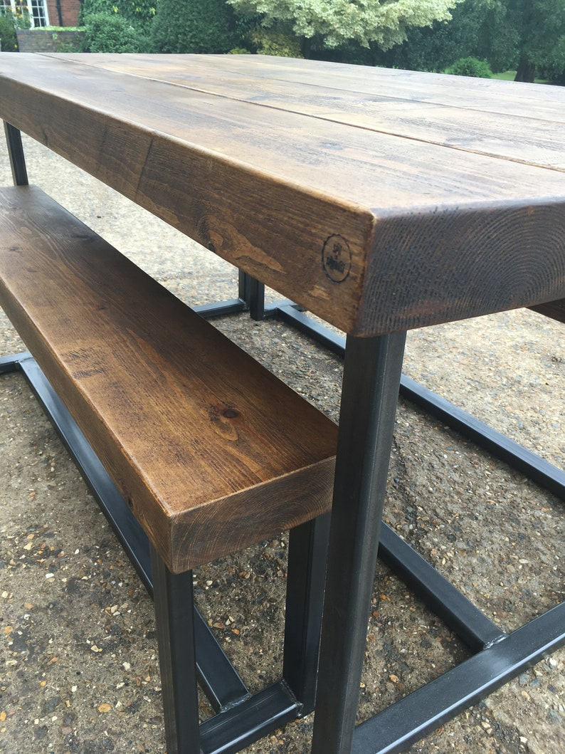 Peachy Industrial Reclaimed Style Bench Diner Extra Chunky Top Dailytribune Chair Design For Home Dailytribuneorg