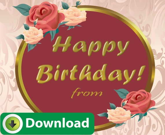 E card happy birthday greeting card digital download for etsy image 0 m4hsunfo