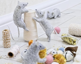 Felt mice - Patterns and instructions