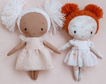 """Rag doll pattern and detailed instructions in English (8""""/20 cm tall)"""