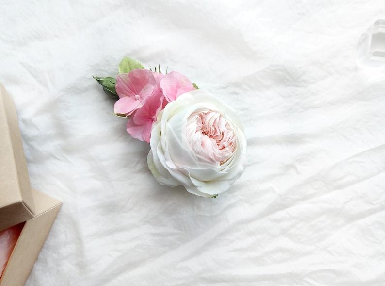 Bridal hair clip Floral hair clip Wedding hair clip Floral hair piece Bridal Headpiece Bridal hair piece Pink hair clip Wedding hair piece