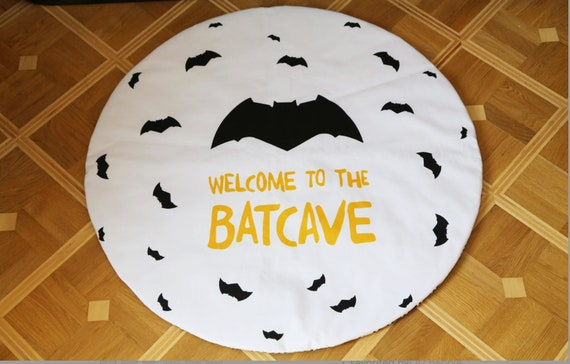 Batman Rug Batman Batman Play Mat Batman Nursery Decor Batman Etsy