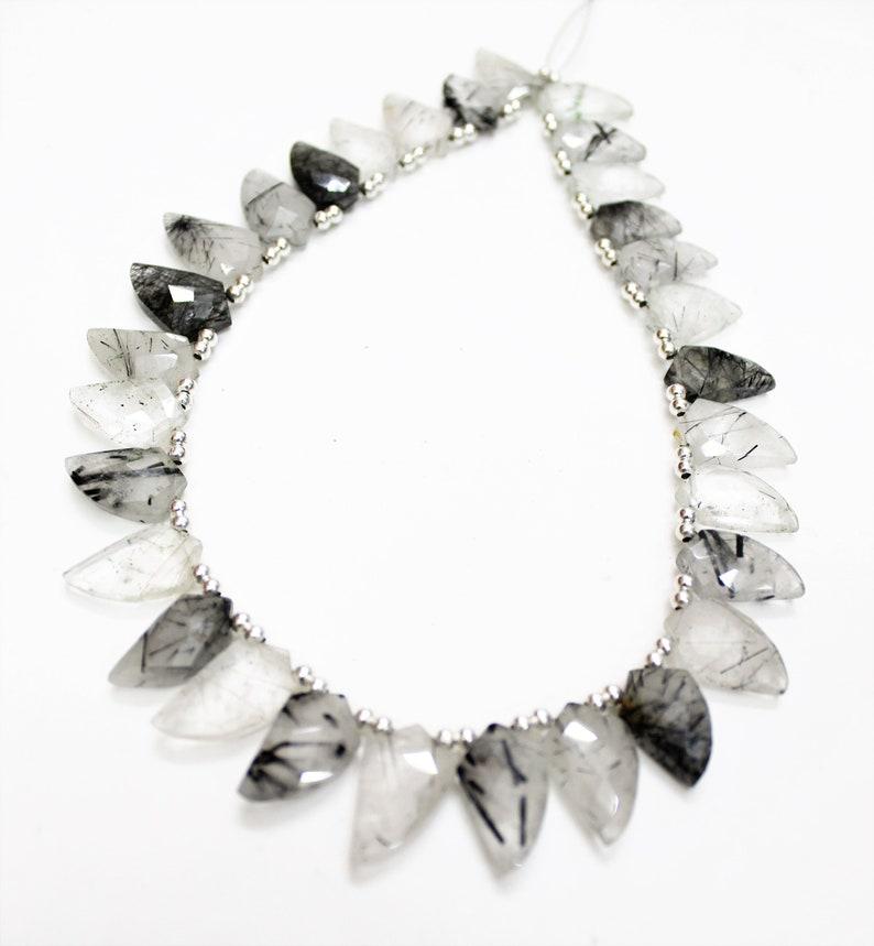 30 Pieces Strand Black Rutile Faceted Mango shape briolettes loose gemstone beads,Rutile gemstone necklace,beaded jewelry