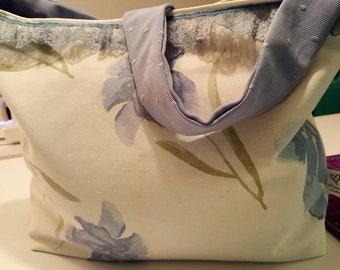 Blue flower bag