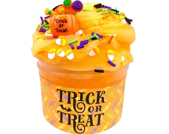 Trick Or Treat ~ Icee Slime ~ Scented Slime~ RazberrySlimeCo ~ Popular Slime Shops/ ASMR ~ Halloween Fall