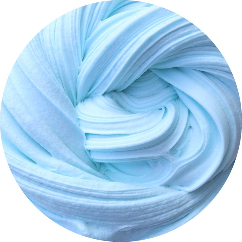 BEST SELLER Blue cotton candy Butter slime scented with blue image 0
