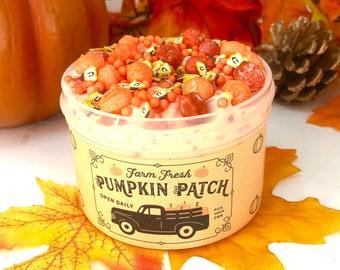 Farm Fresh Pumpkin Patch ~ Fall Halloween Slime ~ Crunchy Slime ~ Scented Slime~ Razberryslimeco~ Popular Slime Shops/ ASMR