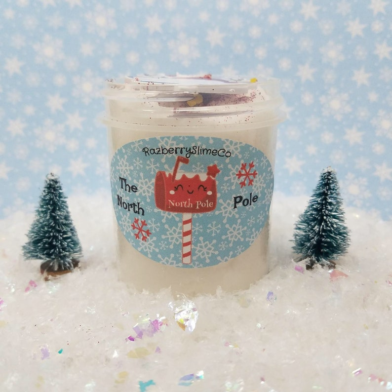 The North Pole  Holiday Christmas Fluffy Cloud Slime With image 0