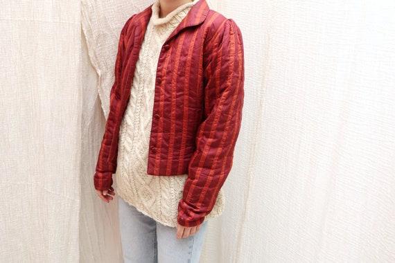 Vintage silk jacket / Vintage silk blazer
