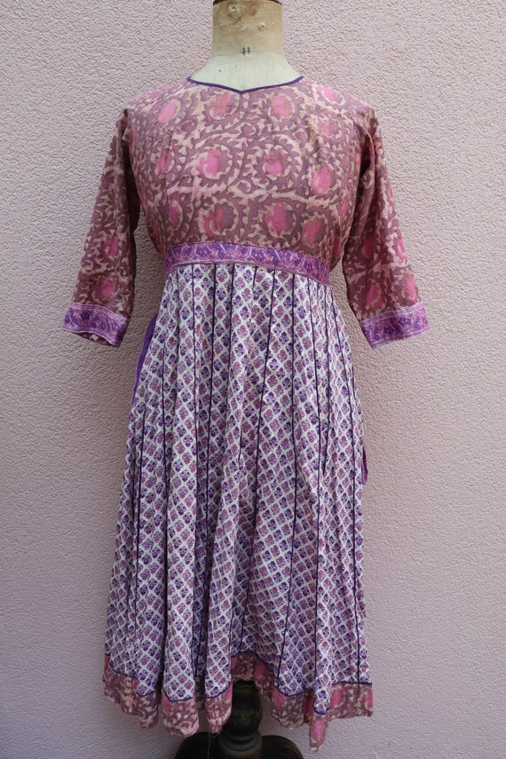 1980's Vintage traditional Indian cotton kurti sty
