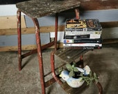 Retro vintage mid century industrial step ladder stool free UK delivery