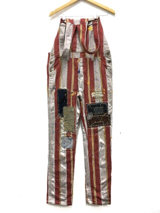 Hysteric glamour overalls nice design stripe denim,painter and patchwork