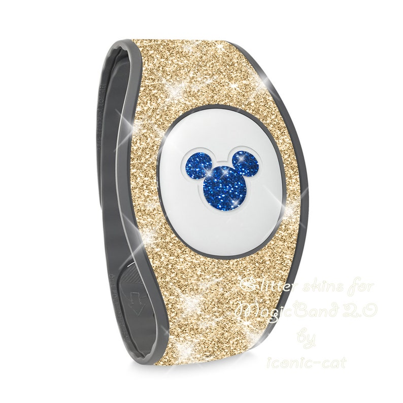 Magicband decals for magic bands 2 blue Sparkly gold  glitter wrap  skins for magic band 2.0  teal rose gold decal stickers neon pink