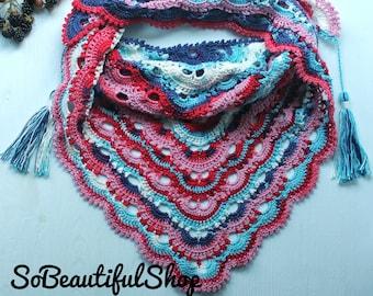 Shawl / Crochet shawl / Scarf / Baktus / Knit baktus / Crochet baktus / Handmade shawl / Handmade scarf / Gift / Autumn shawl / Winter shawl