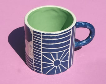 Handmade Illustrated Ceramic Mug