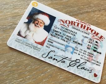 santas sleigh lost driving licence santa licence santa driving licence santa sack christmas decorations