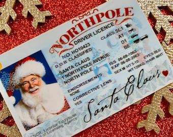 Santa's Sleigh / Lost Driving License/ Santa License / Santa Driving License / Santa sack / Christmas decorations