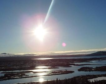 Iceland Photography / Sunshine Photography / Landscape Photography / Water Photography / River Photography