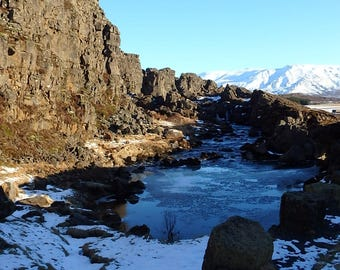 Iceland Photography / River Photography / Shadow Photography / Water Photography / Mountain Photography