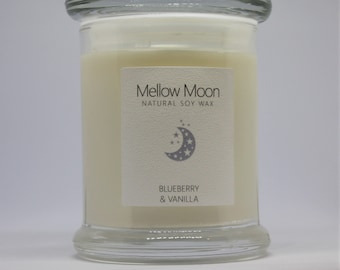 Blueberry & Vanilla Soy Candle / Hand Poured / Vegan Friendly / Spring Easter Gift.
