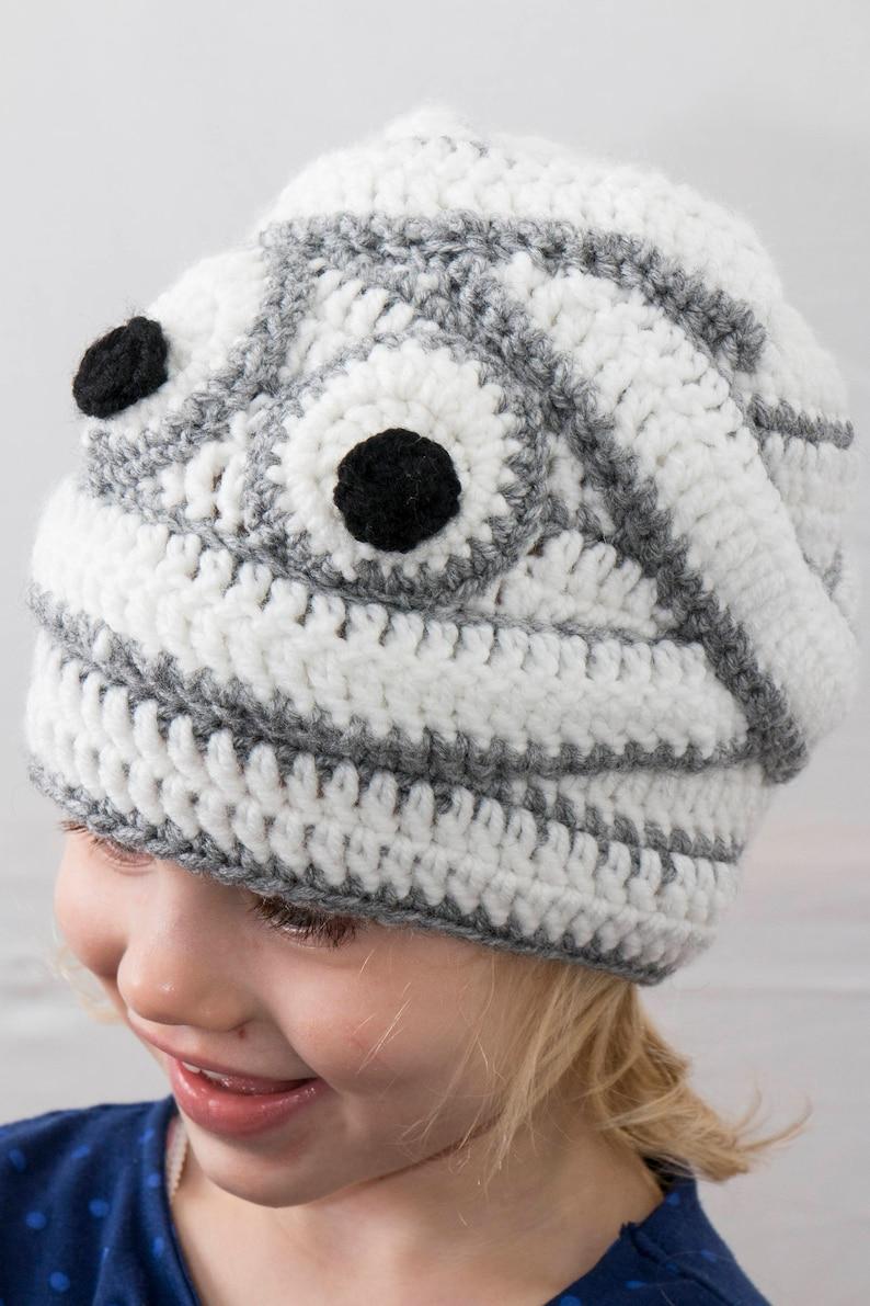 819306b6b09 Halloween Hat Mummy Hat Crochet Baby Hat Crochet Beanie