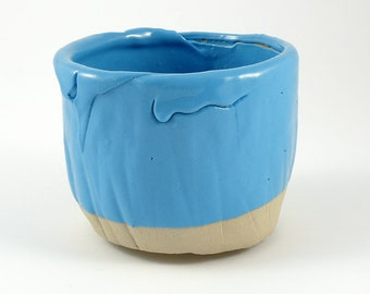 Handmade turquoise tea bowl//Matcha bowl//Chawan//tea cup//Tea bowl