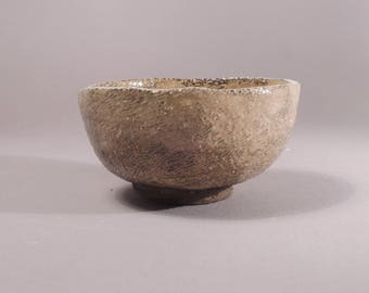 Sencha Teacup, small bowl with rough surface, handmade