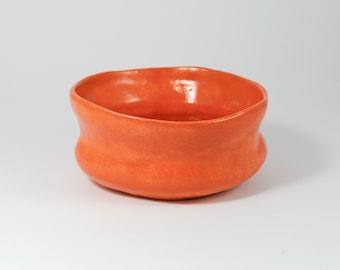 Orange Tea Bowl / Matcha Bowl /Chawan /Tea bowl