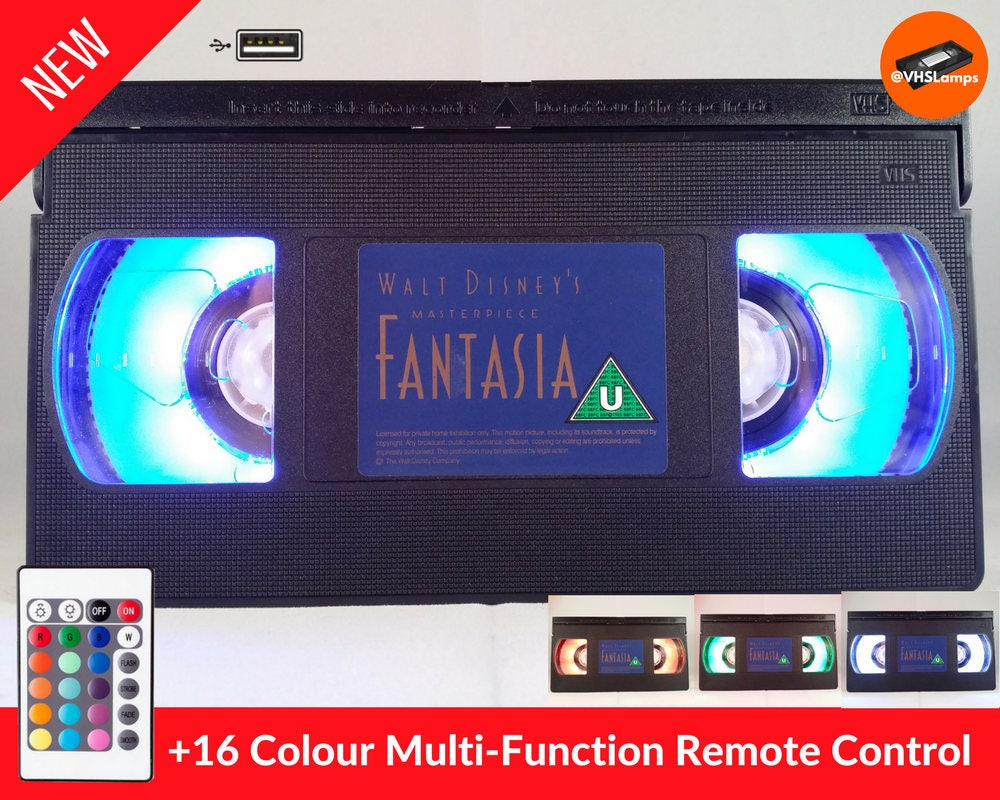Fantasie-VHS-Lampe LED USB betriebene | Etsy