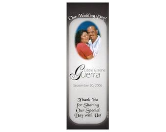 Black and White Wedding Bookmark Favors - Thank You Bookmarks - Photo Bookmarks (50 minimum.)
