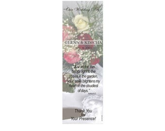 Cake Serving Set Wedding Bookmark Favors - Thank You Bookmarks - Silver Bookmarks (50 minimum.)