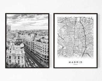 Madrid Spain Map Tourist.Madrid Map Etsy