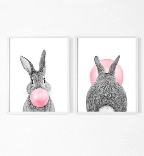 BLACK personalizzata Baby Bunny Animale Borsa 016 per bambini raddit Carino