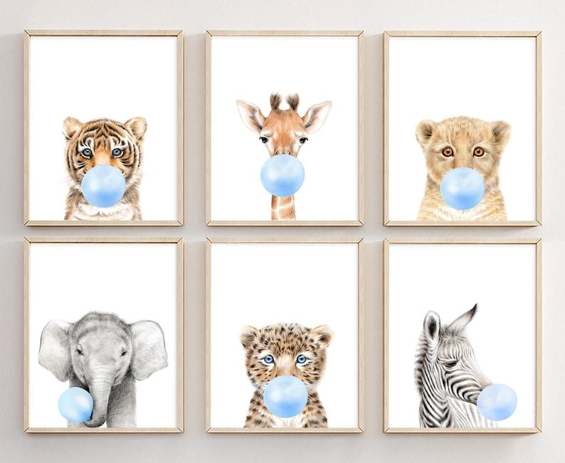 6 affiches animaux trop mignonnes pour décorer la chambre de bébé - Créatrice ETSY : Prostoroom