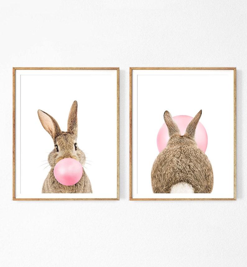 2 affiches lapinous trop mignonnes pour décorer la chambre de bébé - Créateur ETSY: Prostoroom