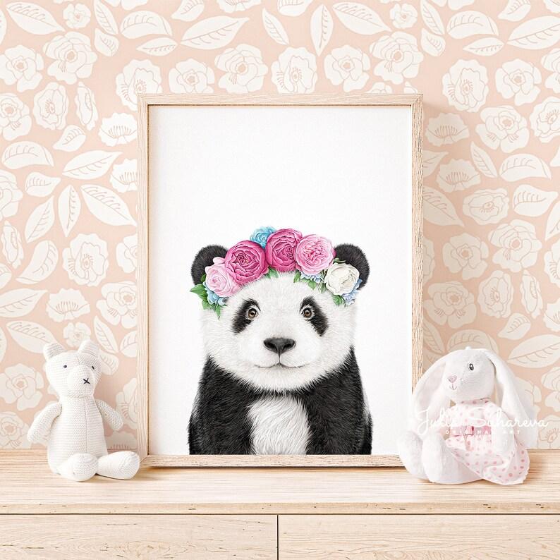 Affiche bébé panda - Créatrice ETSY : Prostoroom