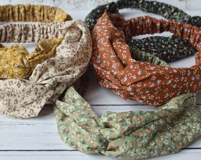 Featured listing image: Floral Headband Twisted Knot Ditsy Print Hair Band