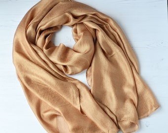 58256029123 Luxurious large Copper silk stole beautiful sheen Bridesmaid Wrap Evening  Shawl formal occasion wear gift for bridesmaid