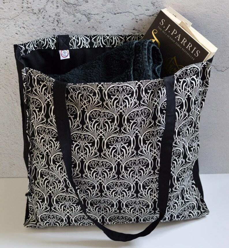 cb06db800 Tote bag canvas art print shopper tote bag black white art   Etsy