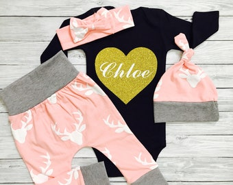 Baby Girl Clothes, Baby Girl Coming Home Outfit, Baby Girl, Newborn Baby Girl Outfits, Newborn Girl Coming Home Outfit, Newborn Girl Outfit