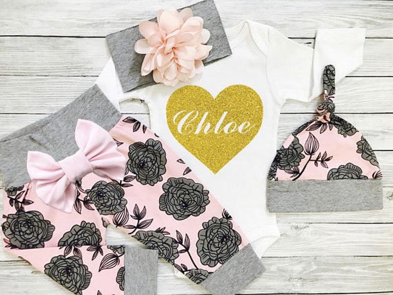 Personalisierte Nach Hause Kommen Outfit Baby Mädchen Etsy