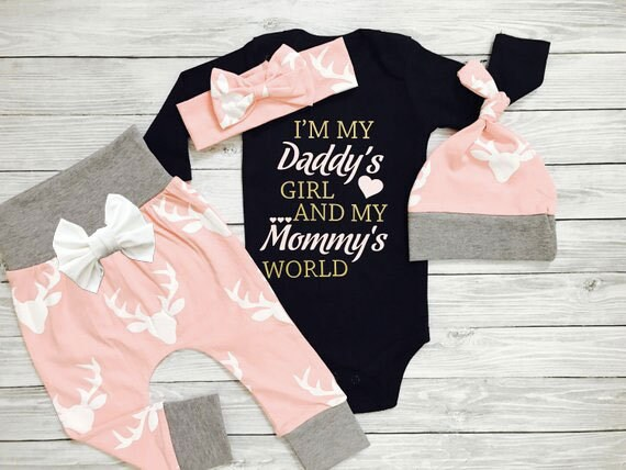 3f16d0362 Baby Girl Coming Home Outfit Newborn Outfit Baby Girl Coming | Etsy