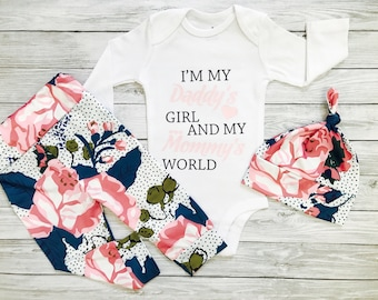 Newborn Girl Clothes, Baby Girl Clothes, Baby Girl Outfits, Baby Girl Clothes Hipster, Baby Girl Outfits Newborn, Daddy's Girl Mommy's World