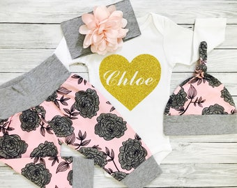 Baby Girl Clothes, Baby Girl Gift, Infant Girl Clothes, Baby Girl, Baby Girl Outfits, Baby Girl Clothes Boho, Baby Girl Gift Ideas