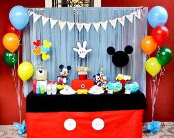 Mickey Mouse Birthday Party Package Decor Printables Personalized Printable DIY Digital Files