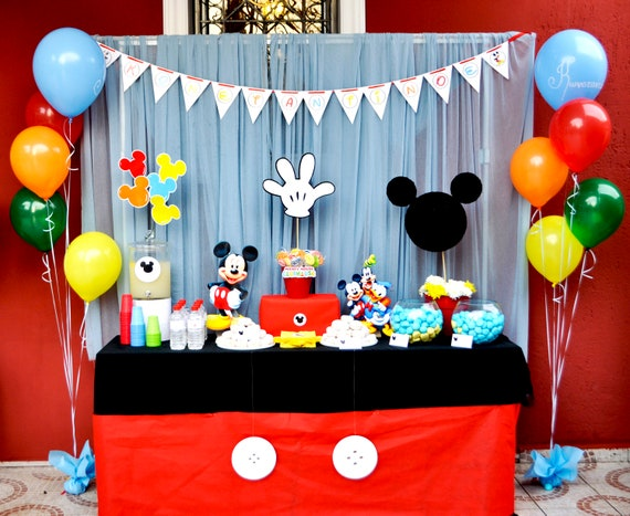 Mickey Mouse Birthday Party Package Mickey Mouse Party Decor Etsy